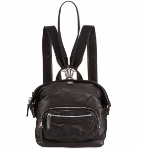 Transformer Small Leather Backpack, Black