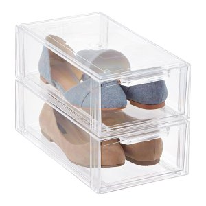 Clear Stackable Shoe Drawer | The Container Store