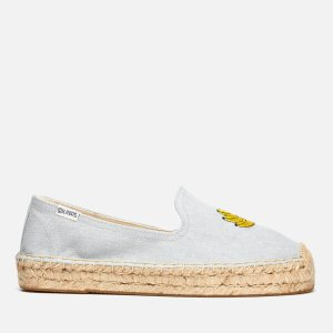 Soludos Women's Banana Platform Smoking Slipper Espadrilles - Chambray - FREE UK Delivery