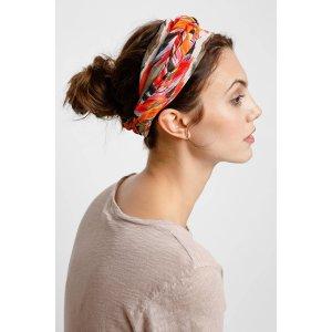 Ikat Print Silk Headscarf   South Moon Under