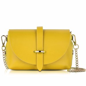 Le Parmentier Caviar Small Yellow Leather Shoulder Bag at FORZIERI