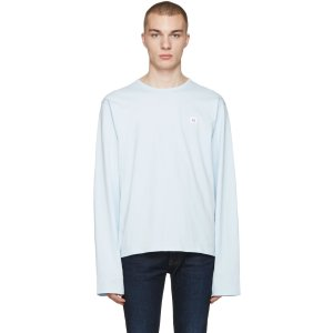 Acne Studios: Blue Fello Face T-Shirt