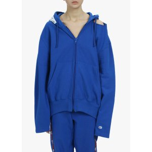 Champion X Zip Up Open Shoulder Hoodie | Vetements | LOIT