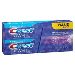 $20.97 买3单 送$10礼卡Crest 3D White 牙膏 或 Colgate Optic White 牙膏 (2盒装)