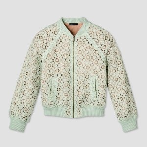 Girls' Mint Green Lace Bomber Jacket - Victoria Beckham for Target