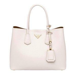 Prada Chalk White Safiano Handbag | zulily