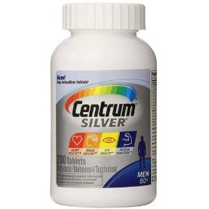 Centrum Silver Men's 50+ Multivitamin - 200 Tablets - eVitamins.com