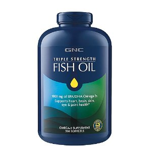 GNC Triple Strength Fish Oil, 360 softgels