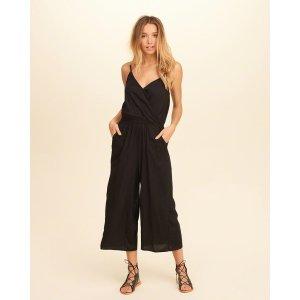 Girls Wrap Front Culotte Jumpsuit | Girls Dresses & Rompers | HollisterCo.com