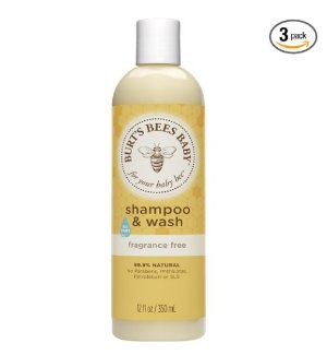 Burt's Bees Baby Shampoo & Wash, Fragrance Free, 12 Ounces (Pack of 3)