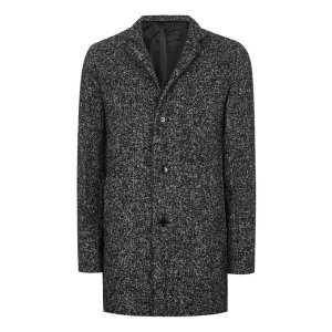 SELECTED HOMME TALL Black Salt And Pepper Coat* - Coats & Jackets - Clothing