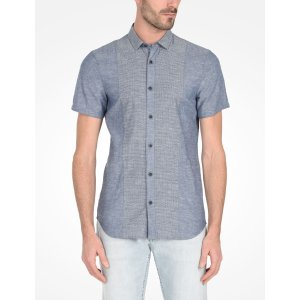 Armani Exchange SHORT SLEEVE SLIM FIT DOT SHIRT, Short Sleeve Shirt for Men - A|X Online Store