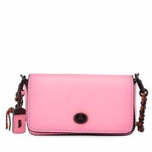 Coach 1941 Dinkier Smooth Leather Shoulder Bag, Pink