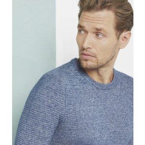 DEBUT Textured crew neck sweater