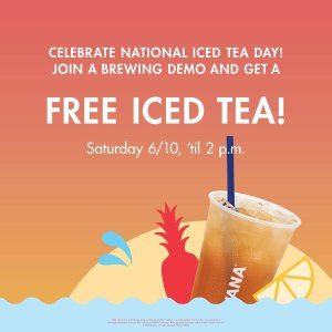 A FREE Featured Iced Cocktail Teaon Saturday 6/10 from Open - 2 p.m. @ Participating Teavana® Stores