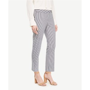 The Ankle Pant in Seersucker - Kate Fit | Ann Taylor
