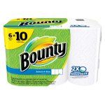 Bounty Paper Towels, White, 6 Double Rolls