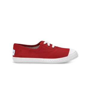 RED CANVAS YOUTH ZUMA SNEAKERS