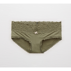 Aerie Shine Boybrief + Boho Lace, Olive Fun | Aerie for American Eagle