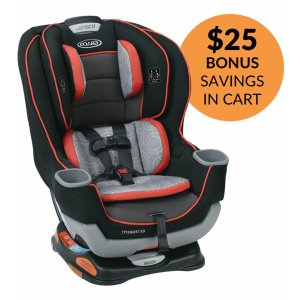 Graco Extend2Fit Convertible Car Seat - Solar