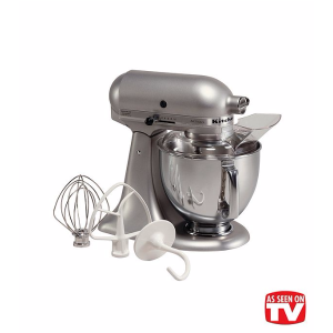 KitchenAid® Artisan® Silver Metallic 5-qt. Stand Mixer + FREE Food Grinder see offer details | Bon-Ton