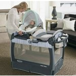 Graco Pack 'n Play Playard with Nuzzle Nest Sway Seat, Mason