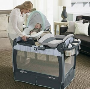 $117.33Graco Pack 'n Play Playard with Nuzzle Nest Sway Seat, Mason