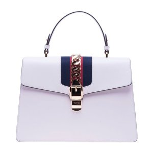 Best price on the market: Gucci Gucci Sylvie Leather Top Handle Bag