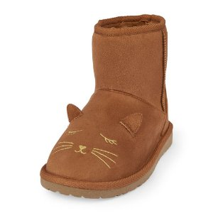 Girls Cat Face Challet Boot | The Children's Place