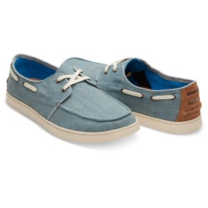 Slate Blue Denim Men's Culver Boat Shoes   TOMS®