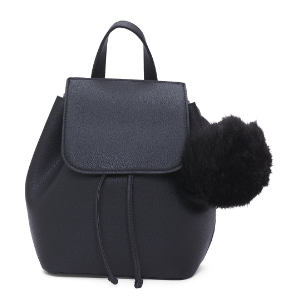 Mini Backpack With Pom