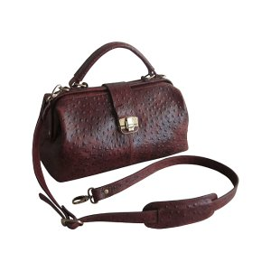Amerileather Ostrich Brown Hillary Classic Leather Satchel | zulily