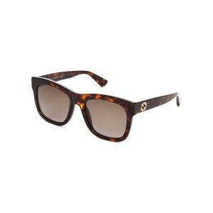 GG 0032/S Tortoiseshell-Look Square Sunglasses - Century 21