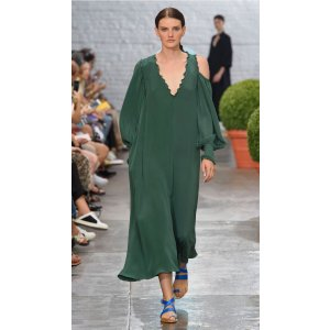 Edwardian Silk Open Shoulder Dress - Sale   Official Site