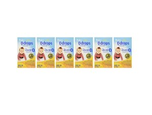 $80.11Ddrops Baby Vitamin D3 400IU, 90 drops 2.5mL (0.08 fl.oz) * 6