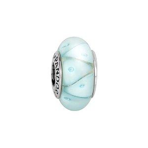 PANDORA Silver Murano Glass Looking Glass Charm