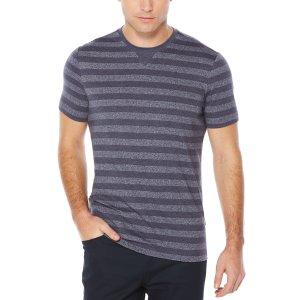 Short Sleeve Horizontal Stripe Tee - Perry Ellis