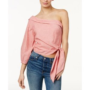 Free People Get Down Striped One-Shoulder Top - Free People - Women - Macy's