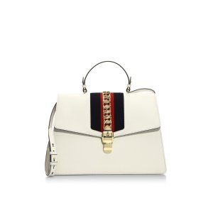 Maxi Sylvie Leather Top Handle Bag by Gucci