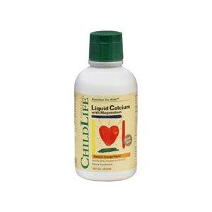 Child Life Liquid Calcium with Magnesium Natural Orange, 16 OZ