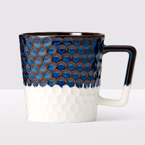 Siren Scales Anniversary Collection Navy Blue and White Ceramic Mug