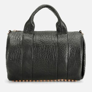 Alexander Wang Women's Rocco Pebble Leather Bag - Black with Rose Gold Hardware - Free UK Delivery over £50