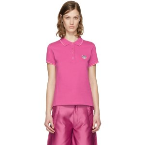 Kenzo: Pink Tiger Crest Polo | SSENSE