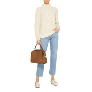 Textured-Leather Shoulder Bag by Bally