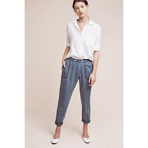 Bradley Chambray Trousers | Anthropologie