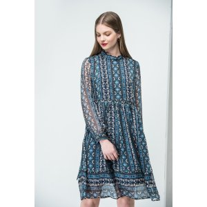 Asymmetric Print Mini Dress DR1434