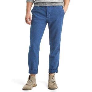Vintage indigo slim fit pants