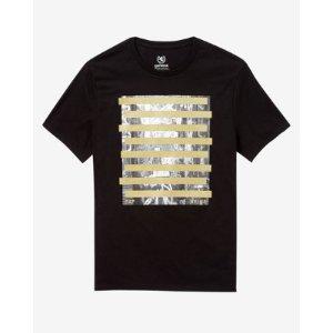 Horizontal Bars Grafitti Graphic T-shirt