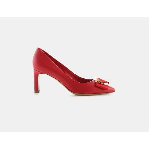 Salvatore Ferragamo Ezia Leather Gancio Heel Pumps | ELEVTD Free Shipping & Returns