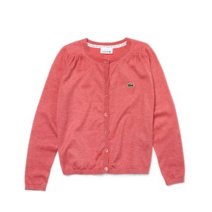 Kids' Crew Neck Contrast Accent Sweater | LACOSTE